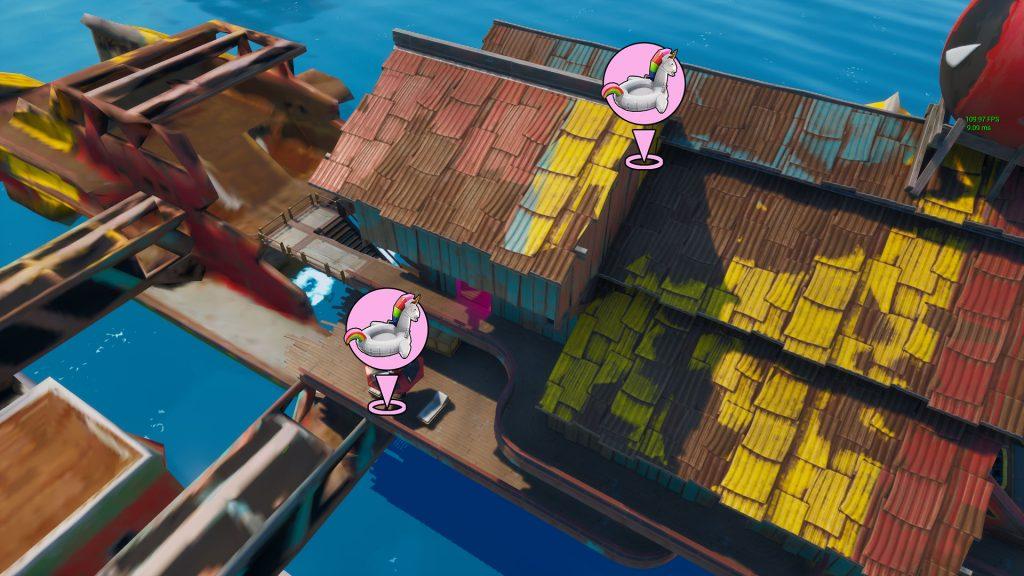 デッドプールの浮き輪を見つける